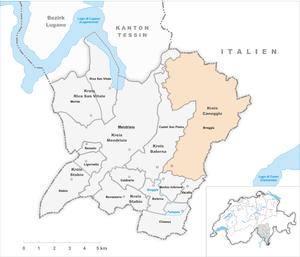 Breggia, Switzerland - Image: Karte Gemeinde Breggia 2009 2