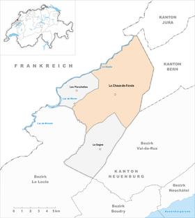 Karte von La Chaux-de-Fonds