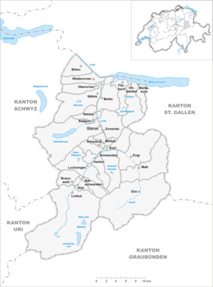 Karte Gemeinden des Kantons Glarus 2007.png