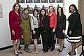 Katherine Clark, Rosa DeLauro, Gayle Goldin, Betsey Stevenson, Elizabeth Warren, Rachel Kaprielian, and Latifa Lyles, 2014.jpg