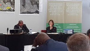 Khayelitsha Commission - Judge O'Regan (right) and Adv. Pikoli (left) at the Khayelitsha Commission in Cape Town on February 23, 2014