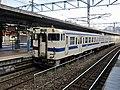 Kiha 147 1125 at Kokura Station.jpg