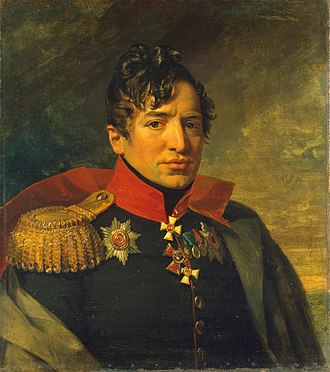 Pyotr Kikin - Pyotr Andreyevich Kikin. Portrait by George Dawe (mid-1820s).