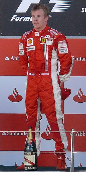 Jumpsuit - Formula One driver Kimi Räikkönen in a protective one-piece auto race suit