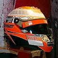 Kimi Raikkonen 2009 helmet Museo Ferrari.jpg
