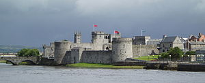 History of Ireland (1169–1536) - King John's Castle sits on the southern bank of the River Shannon. It was built in the 12th century on the orders of King John of England