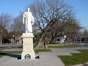 Westward Ho! - The Charles Kingsley statue in nearby Bideford