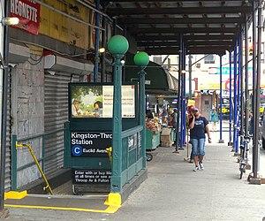 Kingston–Throop Avenues (IND Fulton Street Line) - Eastbound street entrance