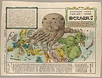 Kisaburō Ohara, Europe and Asia Octopus Map, 1904 Cornell CUL PJM 1145 01.jpg