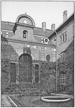 Abel Cathrines Stiftelse - Abel Cathrines Stiftelse: The courtyard in 1914