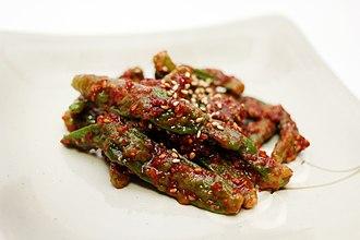Jangajji - Image: Kkwarigochujangajji (pickled kkwari pepper)