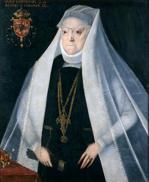 Martin Kober - Portrait of Queen Anna of Poland - ca. 1590