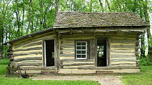 Lake Shetek State Park - The restored and relocated 1859 Koch Cabin