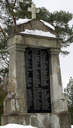 Kose - Image: Kose Vabadussõja mälestussammas 01