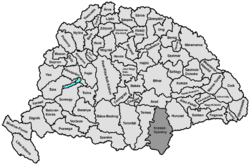 Location of Krassó-Szörény
