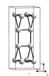 A β-Ga kristályrácsa