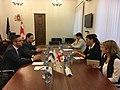 Kristian Vigenin meets with Head of the OSCE PA's Georgian Delegation Sofio Katsarava in Tbilisi, 27 Sept. 2017 (37338373416).jpg