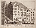 Kupferstich - Nürnberg - Prospect vom Roßmarkt gegen die Barfüßerbrücken - Johann Alexander Boener - um 1700.jpg