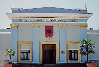 Parliament of Albania - Image: Kuvendi i Shqipërisë