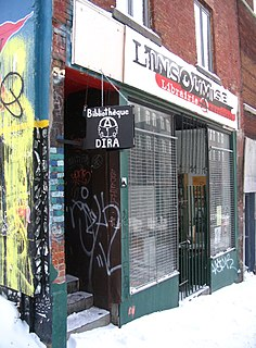 Infoshop A space that serves as a node for the distribution of political, subcultural and radical information