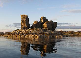 Solund - Rock formation in northern Solund