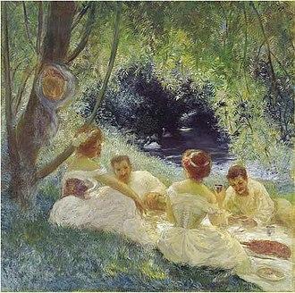Gaston La Touche - Breakfast on the Grass, c. 1880