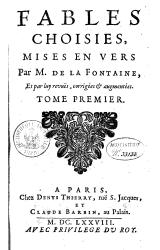 La Fontaine - Fables choisies, Barbin 1692, tome 1.djvu