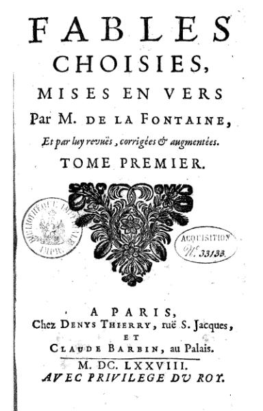 Ofbyld:La Fontaine - Fables choisies, Barbin 1692, tome 1.djvu