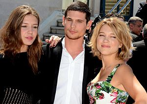 Blue Is the Warmest Colour - Main cast, from left to right: Adèle Exarchopoulos, Jérémie Laheurte and Léa Seydoux