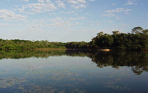 Cantão - Lago Grande, a large oxbow lake in Cantão State Park