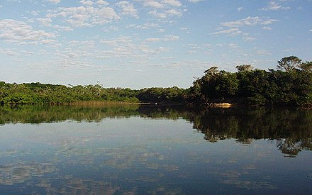 Lago no interior do Parque Estadual do Cantão, situado na região centro-oeste do estado. - Tocantins