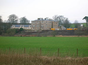 Lands of Lainshaw - A view of the renovated Lainshaw House in 2007 from the Cunninghamhead road