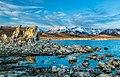 Lake, rock, and mountain (35010450543).jpg