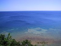 Lake Huron viewed from Arch Rock at Mackinac Island
