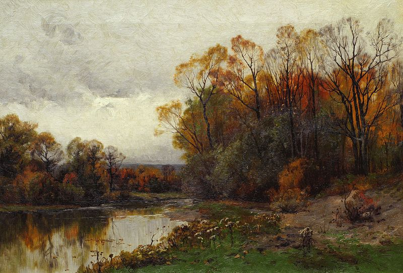 File:Lake in Autumn by Charles Harry Eaton.jpg