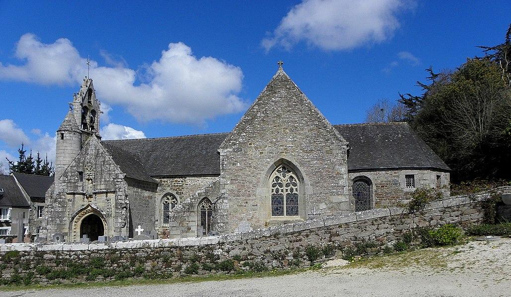 Église Saint-Loup de Lanloup (22). Façade méridionale.