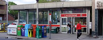 Lansdowne station (Toronto) - Bus stop outside the entrance on the east side of Lansdowne Avenue