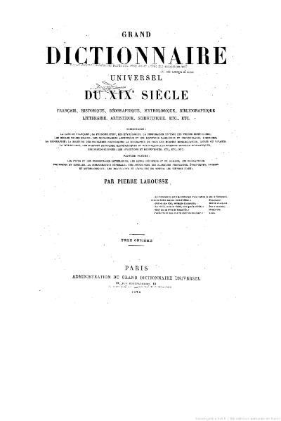 File:Larousse - Grand dictionnaire universel du XIXe siècle - Tome 11, part. 3, Napp-Oct.djvu