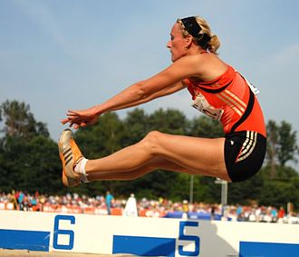 National Sports Centre Papendal - Laurien Hoos competing at the 2007 Papendal Games