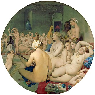 The Turkish Bath - Image: Le Bain Turc, by Jean Auguste Dominique Ingres, from C2RMF retouched