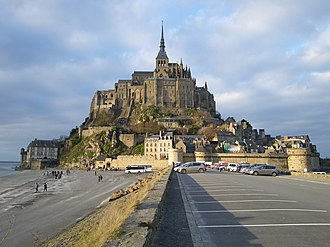 Roman Catholic Diocese of Coutances - Bishop Aubert of Avranches (ca. 709) began construction of what became Mont Saint-Michel