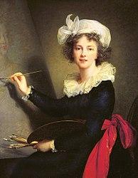 Louise Élisabeth Vigée Le Brun: Self-portrait in Uffizi