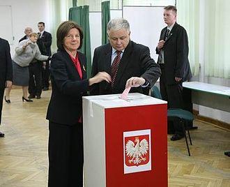 Elections in Poland - Lech Kaczyński and Maria Kaczyńska in 2006
