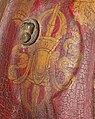 Left vajra detail, from- 15th to 17th century Tibetan Leather Helmet with Auspicious Symbols MET DP124312 (cropped).jpg