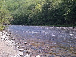 Lehigh River near Glen Onoko, near Jim Thorpe, Pennsylvania.jpg
