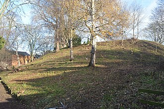 Leicester Castle - The motte in late 2011