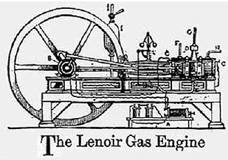 Gas engine - Lenoir gas engine 1860.
