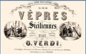 Les vêpres siciliennes - Les Vêpres Siciliennes: cover of the score for Verdi's 1855 opera
