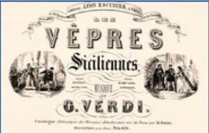 Les vêpres siciliennes - Les Vêpres Siciliennes: cover of the score for Verdi's 1855 opera