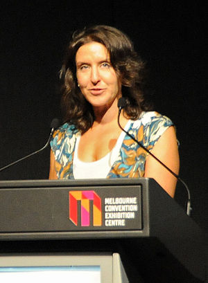 English: Leslie Cannold at the 2010 Global Ath...